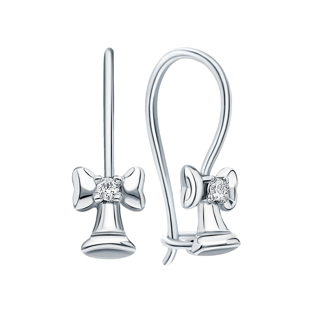Серебряные серьги с кубическими циркониями в Екатеринбурге