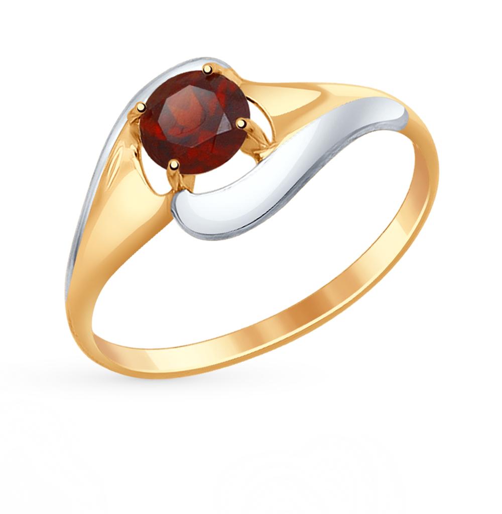 золотое кольцо с гранатом SOKOLOV 714620*