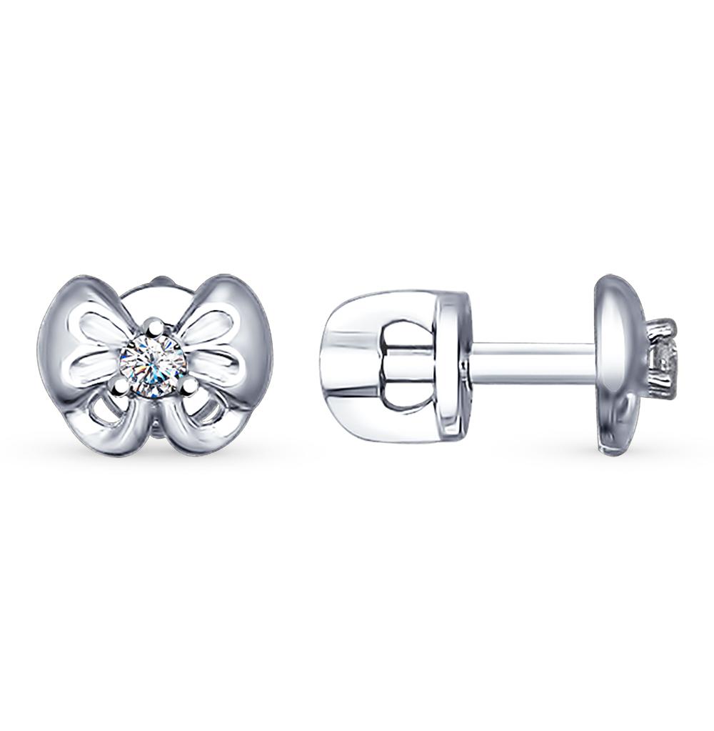 серебряные серьги с фианитами SOKOLOV 94022492