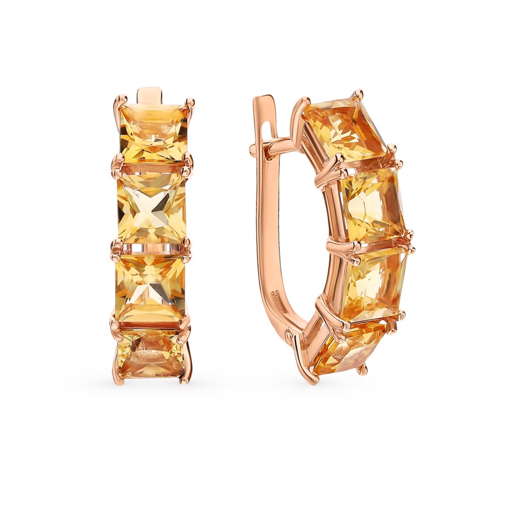 Фото «Золотые серьги с цитринами»