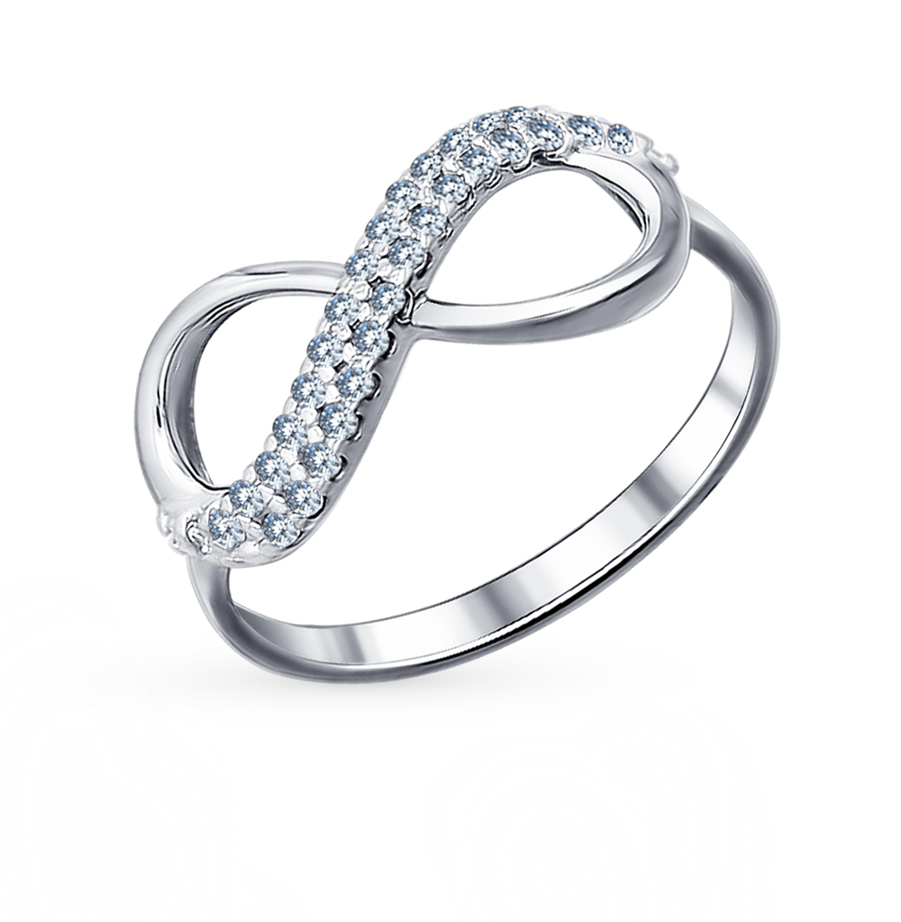 Фото «Серебряное кольцо с фианитами SOKOLOV 94011255»