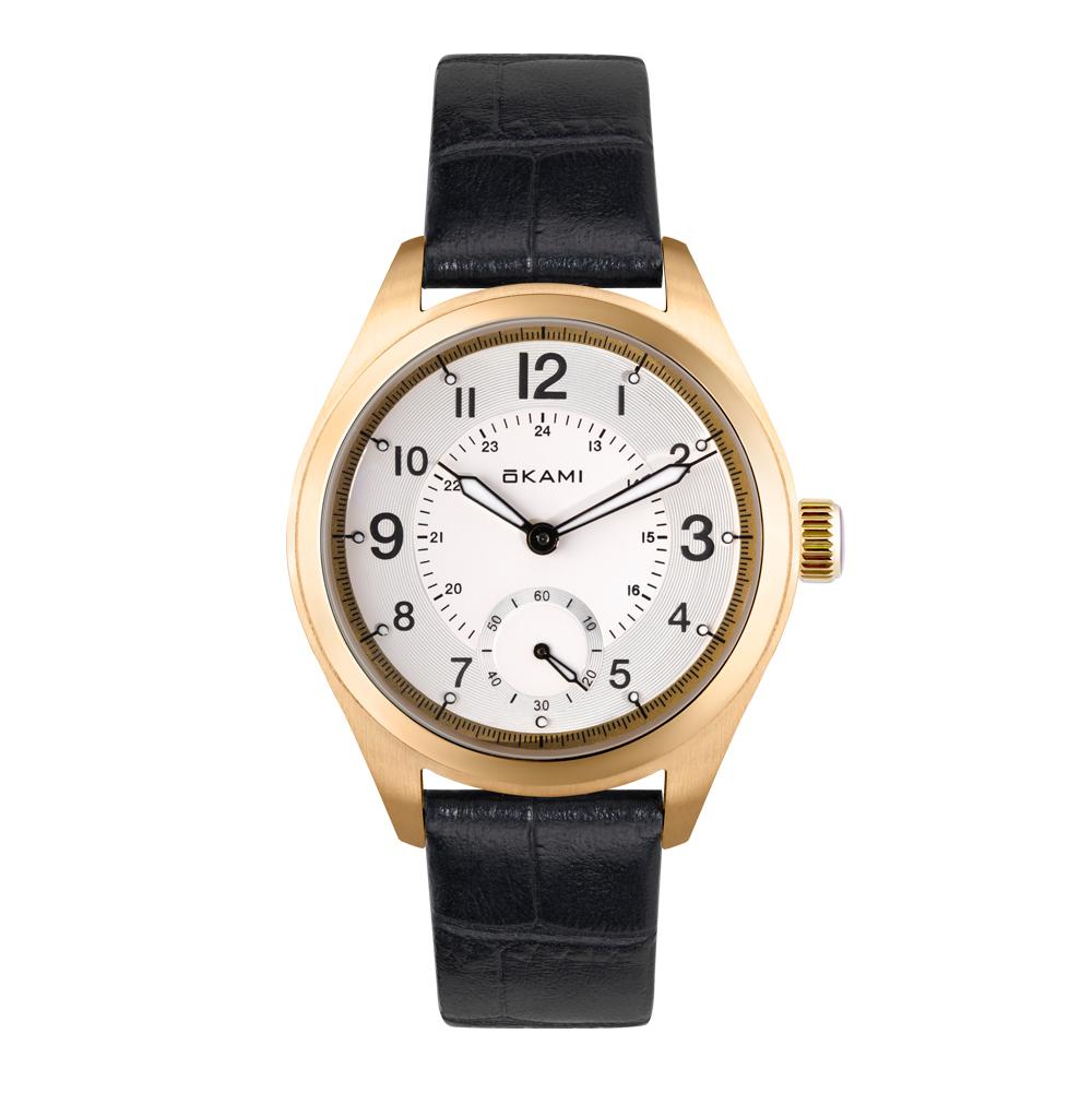 Фото «Женские часы на черном ремне из натуральной кожи»