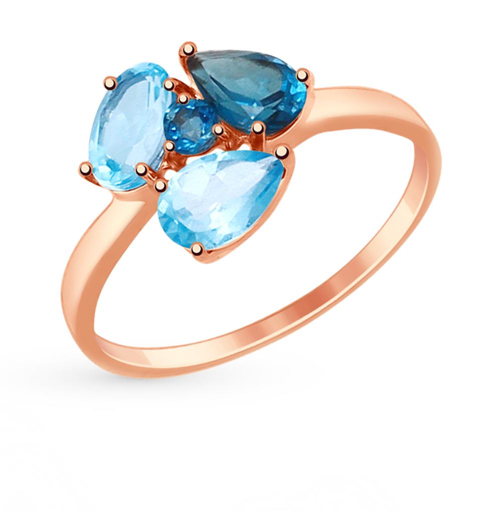 золотое кольцо с топазами SOKOLOV 714816*