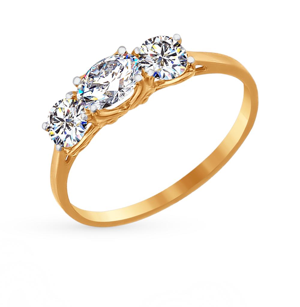 Золотое кольцо с фианитами SOKOLOV 81010204* в Санкт-Петербурге