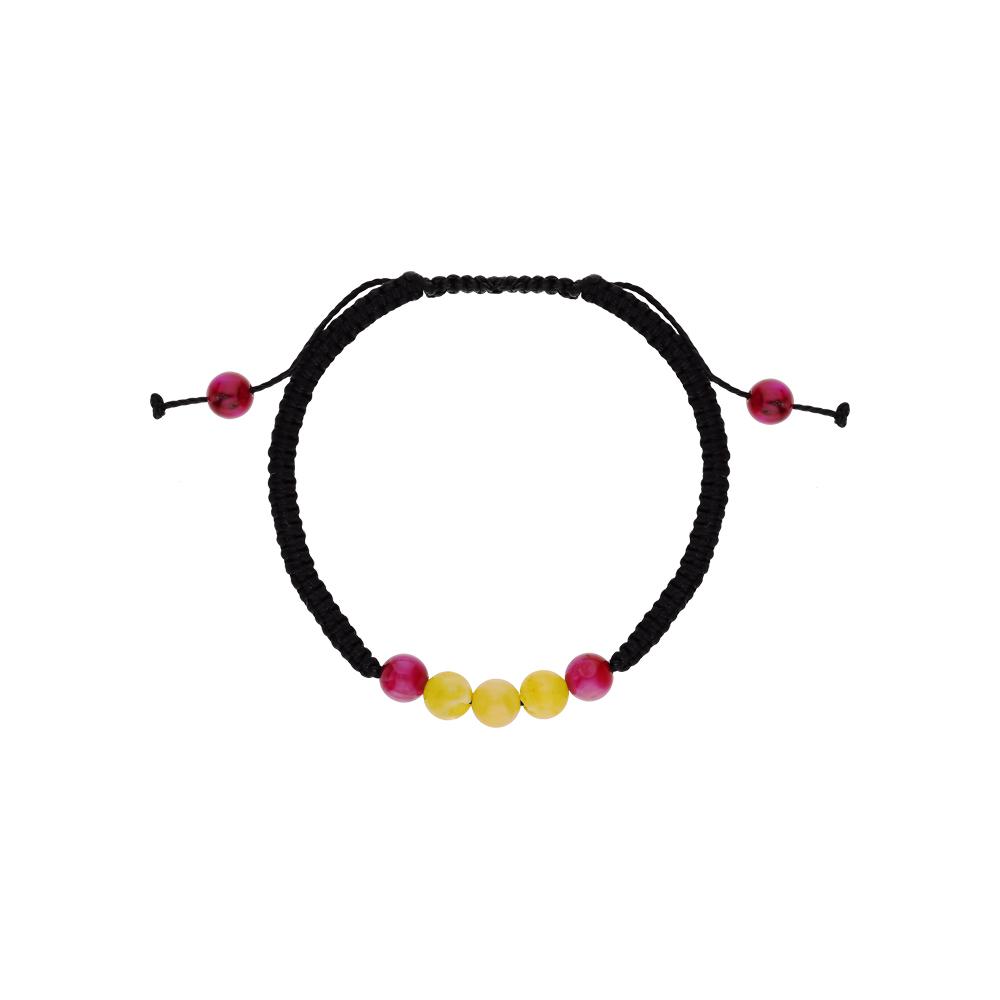 Фото «Серебряный браслет с янтарем и улекситами»