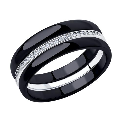 Фото «Керамическое кольцо с керамикой и фианитами»