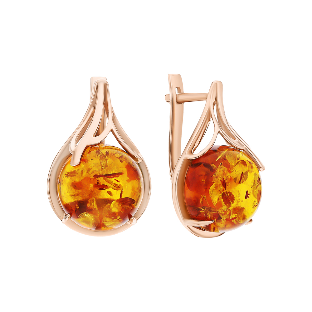 Фото «Золотые серьги с янтарем»