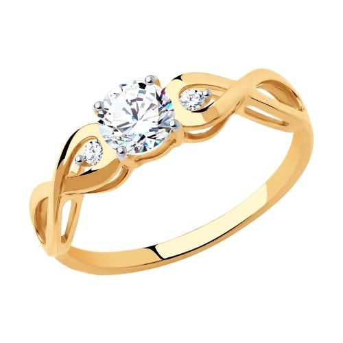 Золотое кольцо с фианитами SOKOLOV 017154* в Екатеринбурге