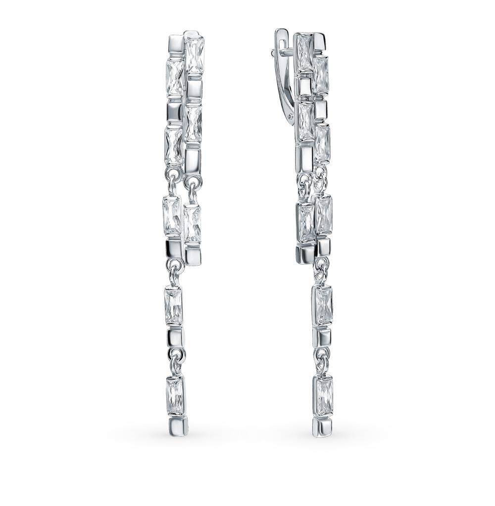 серебряные серьги с фианитами SOKOLOV 94023048
