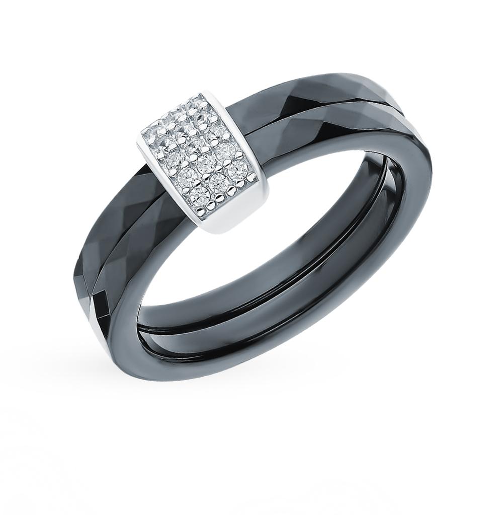 Фото «Керамическое кольцо с фианитами»
