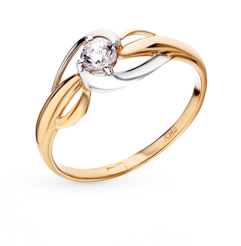 золотое кольцо с фианитами SOKOLOV 017441*
