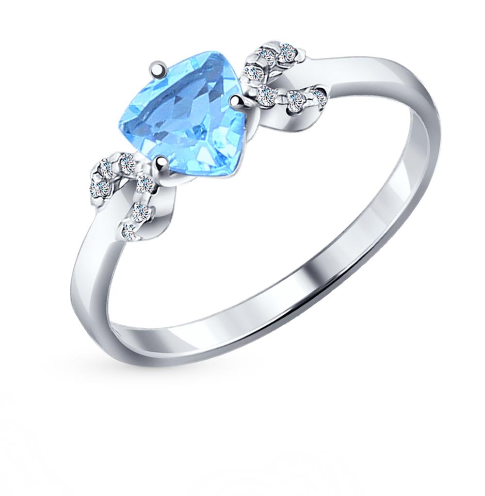 Фото «Серебряное кольцо с топазами SOKOLOV 92011038»