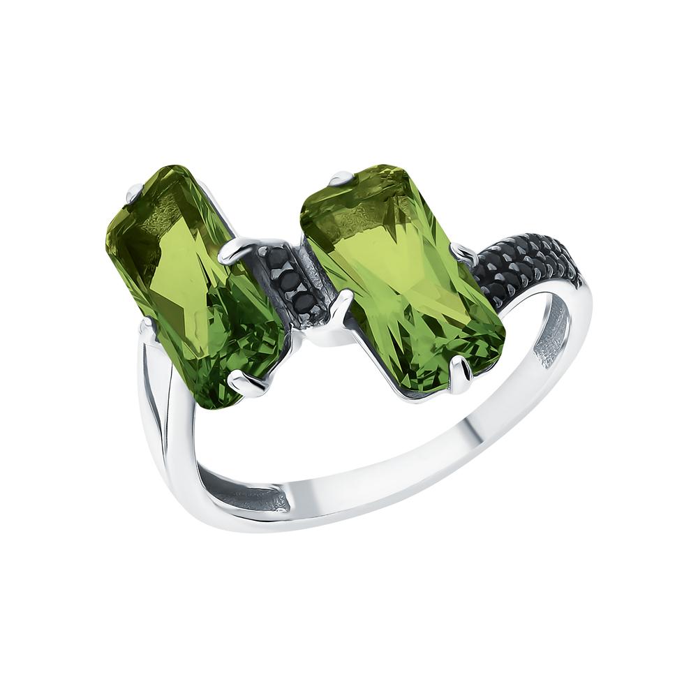 Фото «Серебряное кольцо с турмалинами и нанокристаллами»
