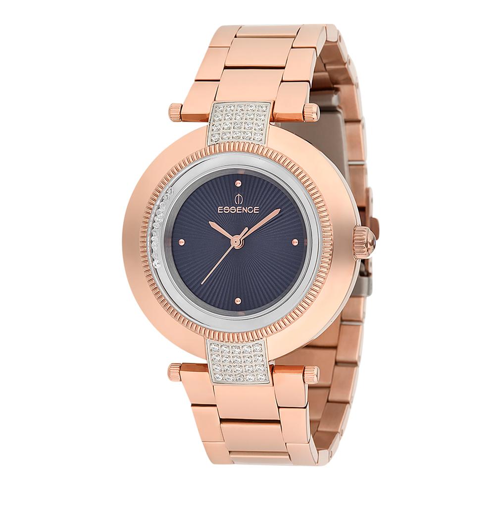 Женские часы ES6386FE.470 на стальном браслете с розовым PVD покрытием с минеральным стеклом