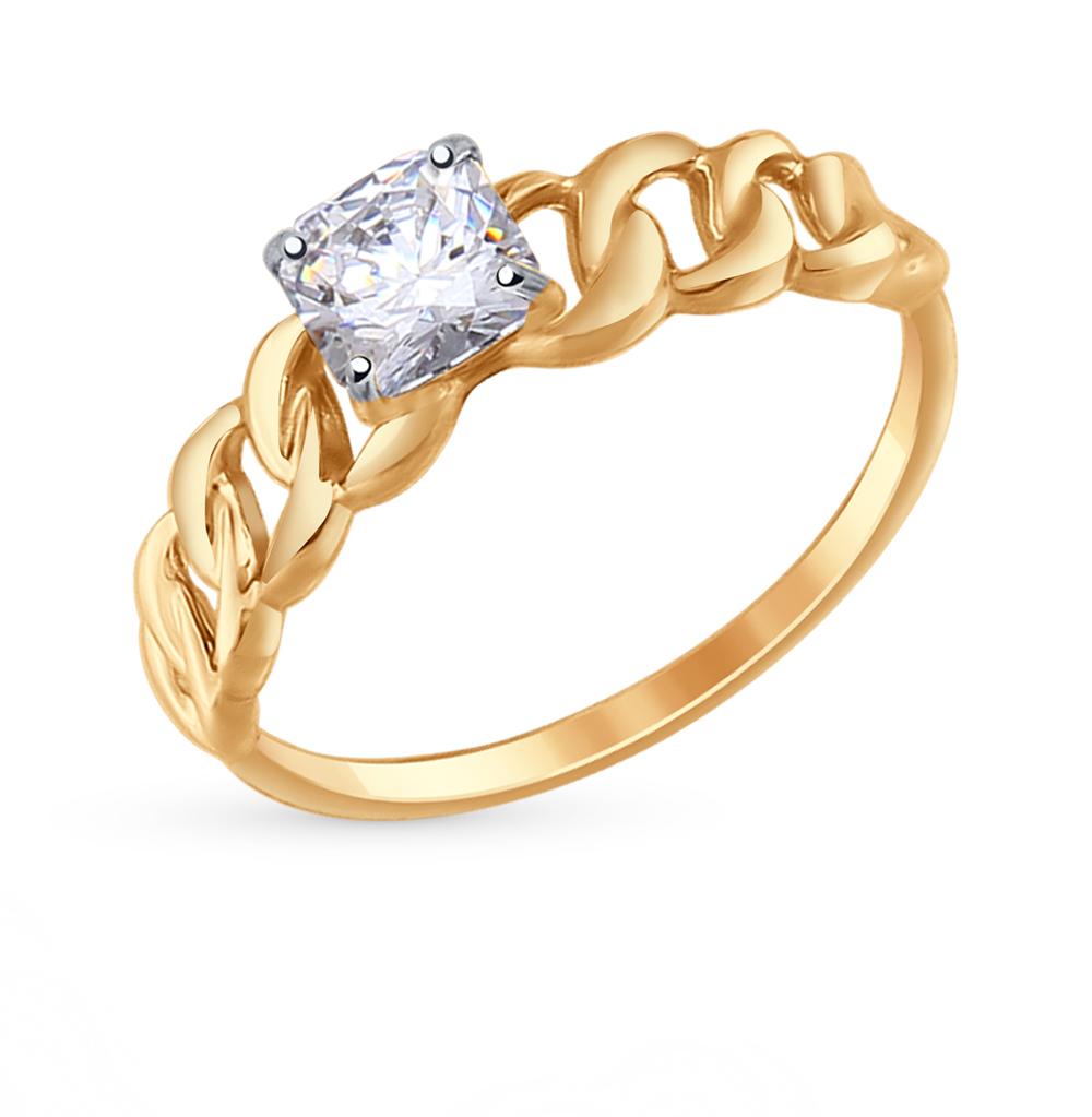 Золотое кольцо с фианитами SOKOLOV 81010291* в Екатеринбурге