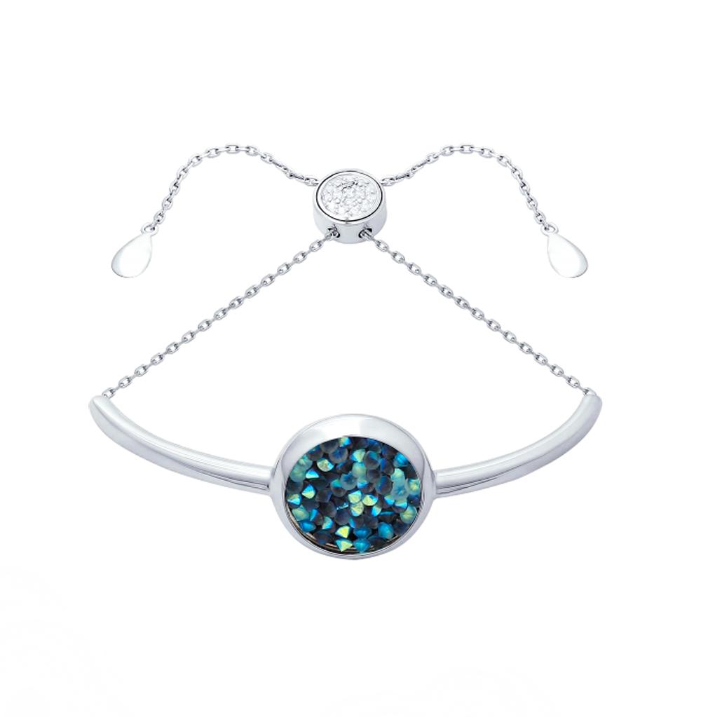 Серебряный браслет с кристаллами и фианитами SOKOLOV 94050409 в Екатеринбурге