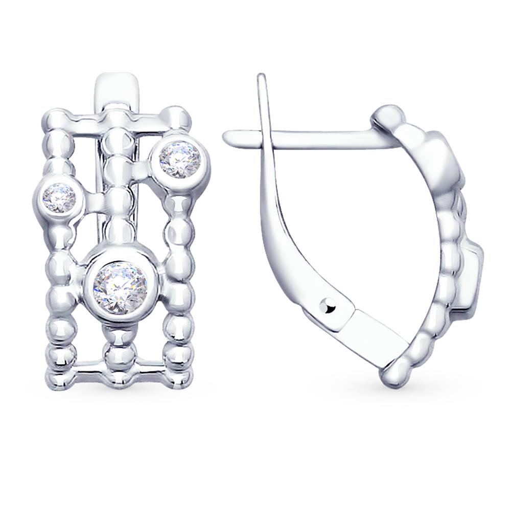 серебряные серьги с фианитами SOKOLOV 94022736