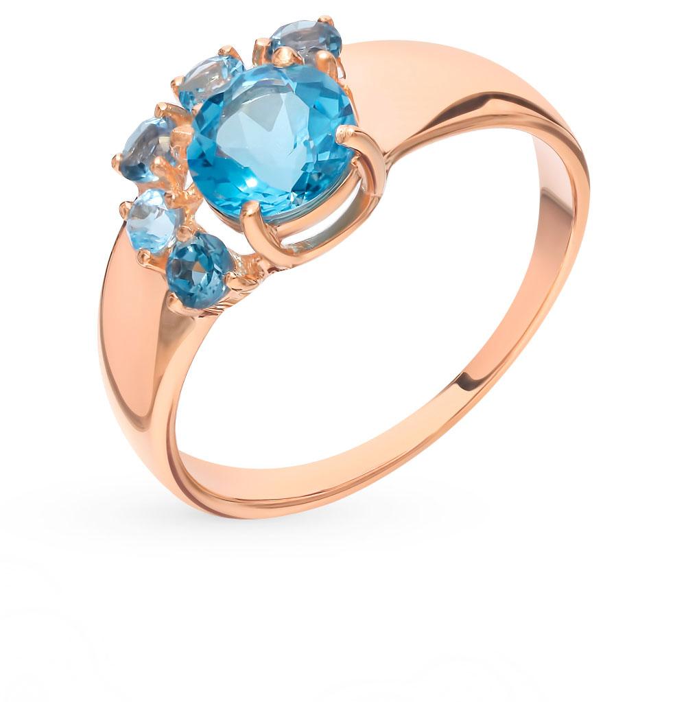 золотое кольцо с топазами SOKOLOV 715004*