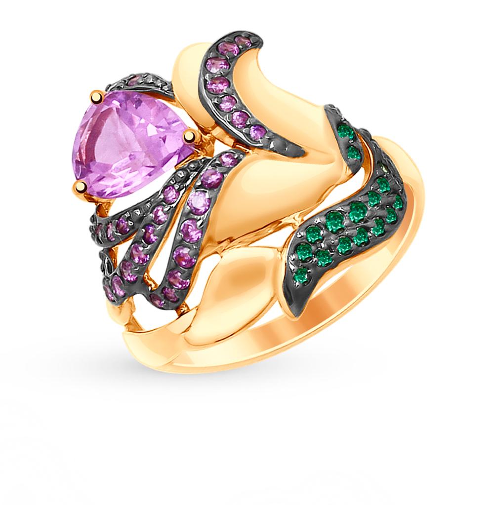 Золотое кольцо с аметистом и фианитами SOKOLOV 714997* в Екатеринбурге