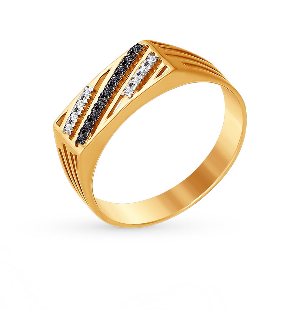 Фото «Золотое кольцо с фианитами SOKOLOV 015473*»
