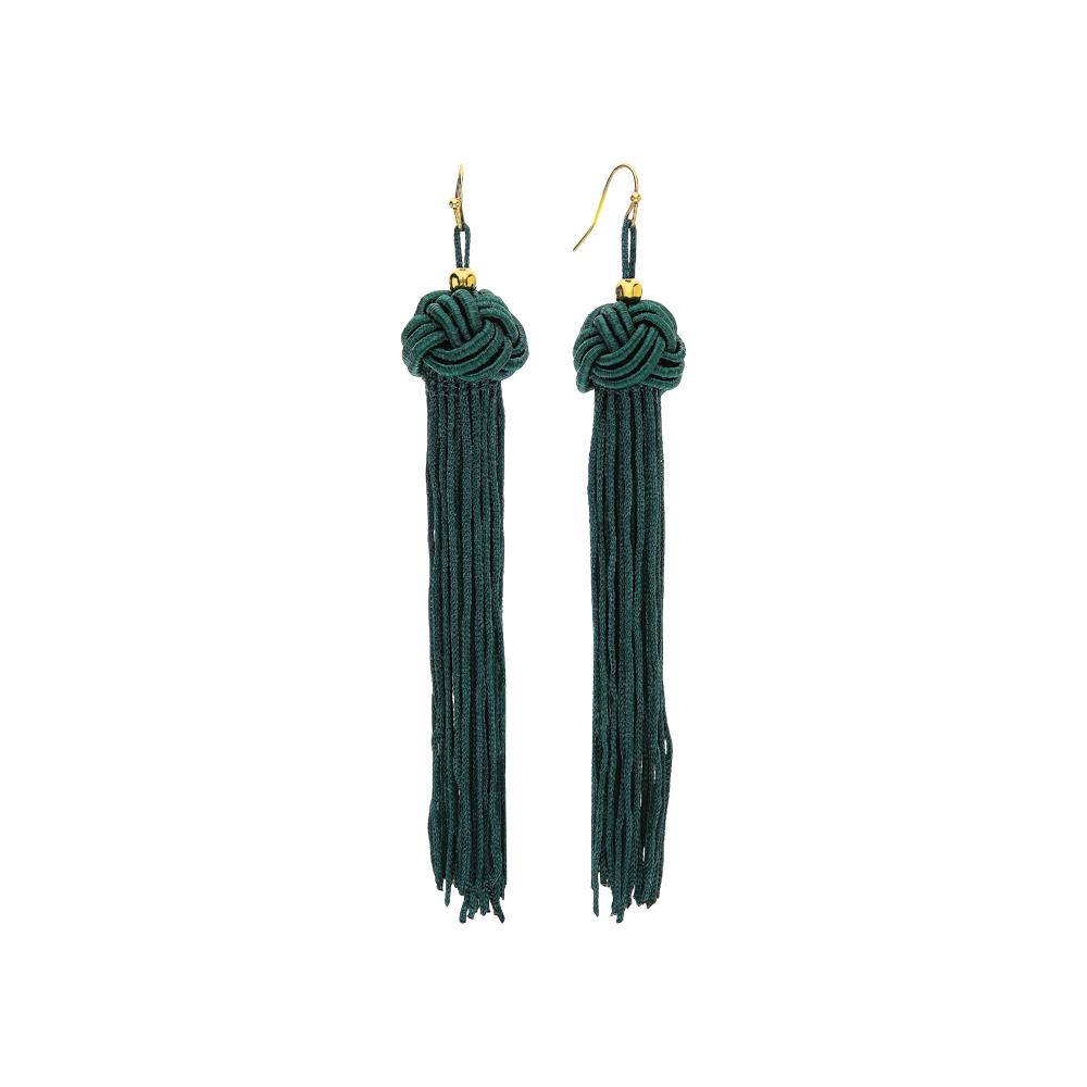 Стальные серьги: жёлтая и зелёная сталь — купить в интернет-магазине SUNLIGHT, фото, артикул 188050