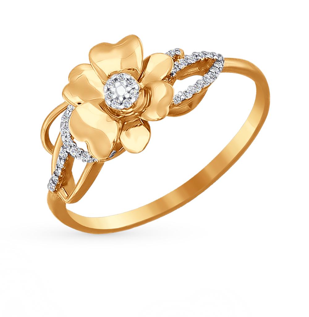 Фото «Золотое кольцо с фианитами SOKOLOV 015747*»