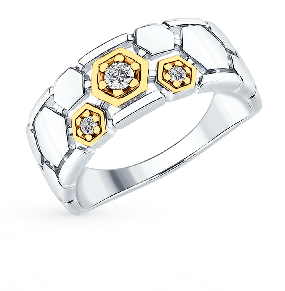 серебряное кольцо с фианитами SOKOLOV 94012408