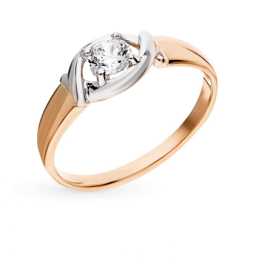 золотое кольцо с фианитами SOKOLOV 017522*