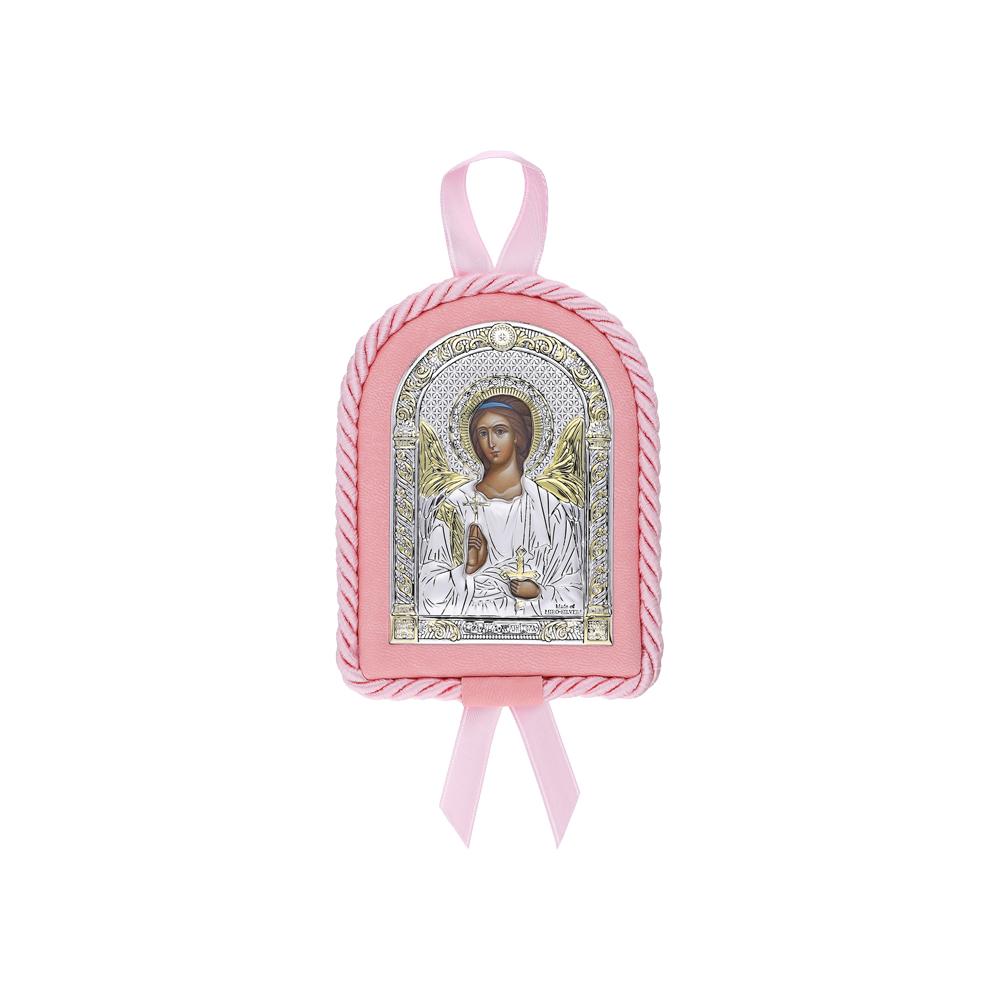 Фото «Серебряный набор детский крестильный с иконой»