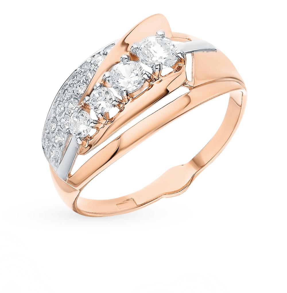 Фото «Золотое кольцо с фианитами SOKOLOV 018170*»