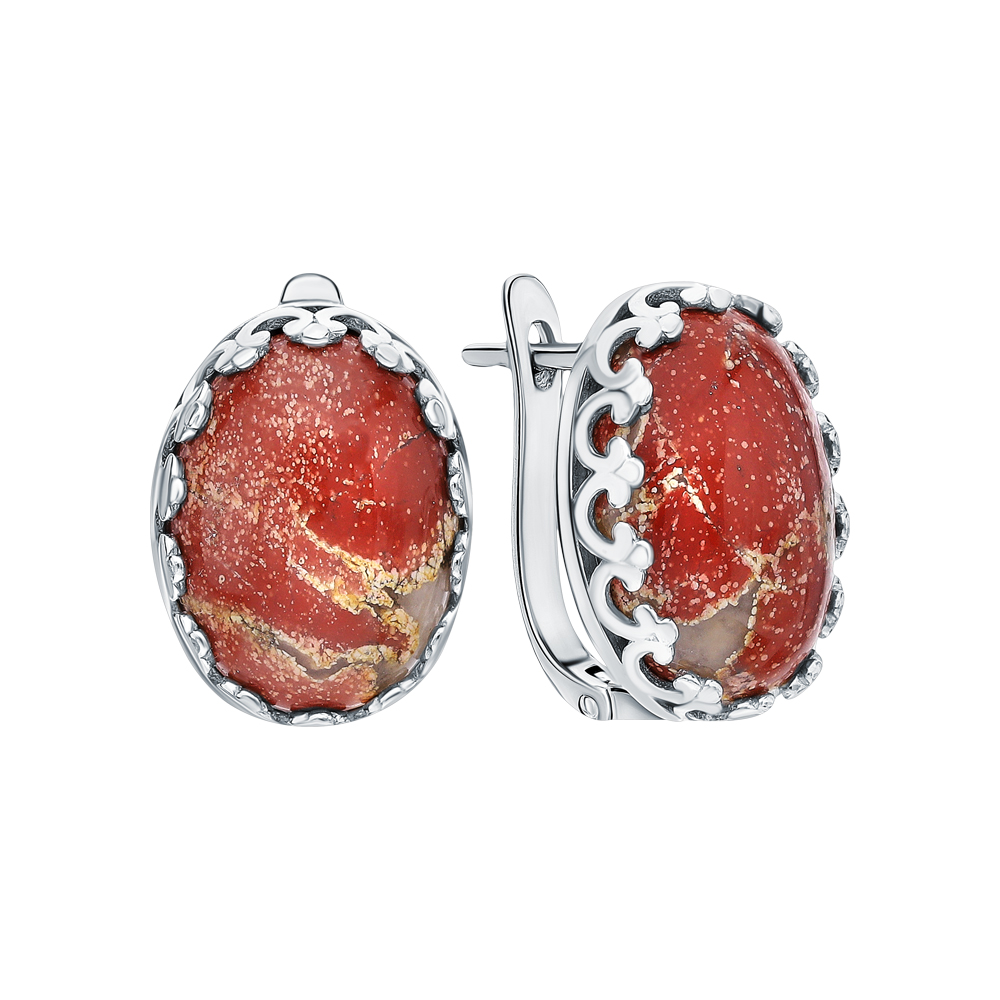 Фото «Серебряные серьги с яшмой»