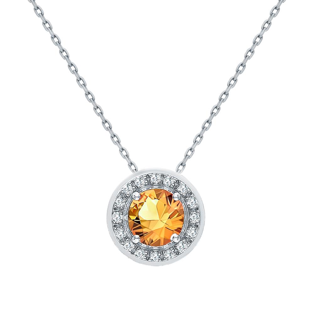 Золотая подвеска с сапфирами и бриллиантами в Екатеринбурге