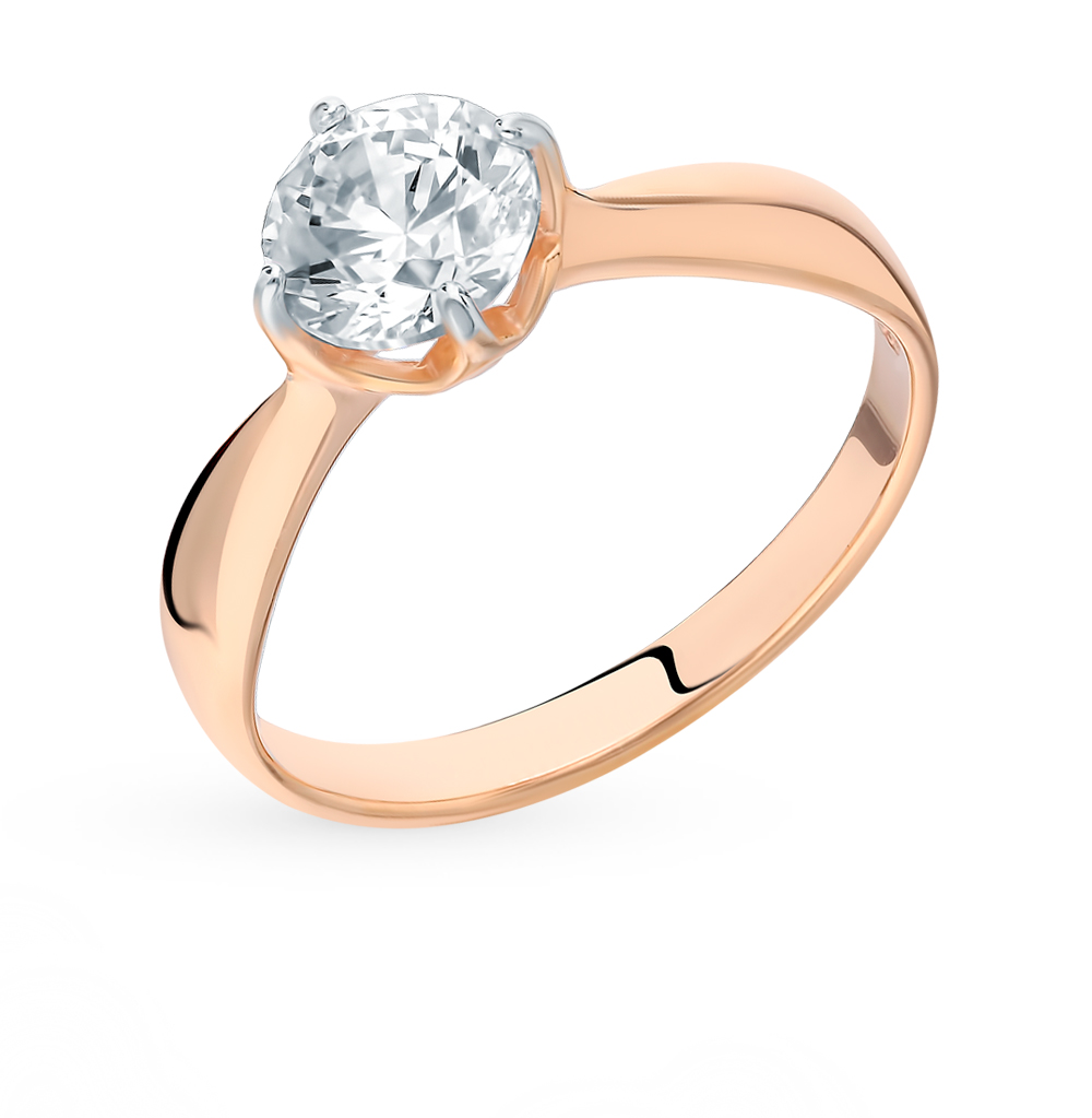 серебряное кольцо с фианитами SOKOLOV 89010096