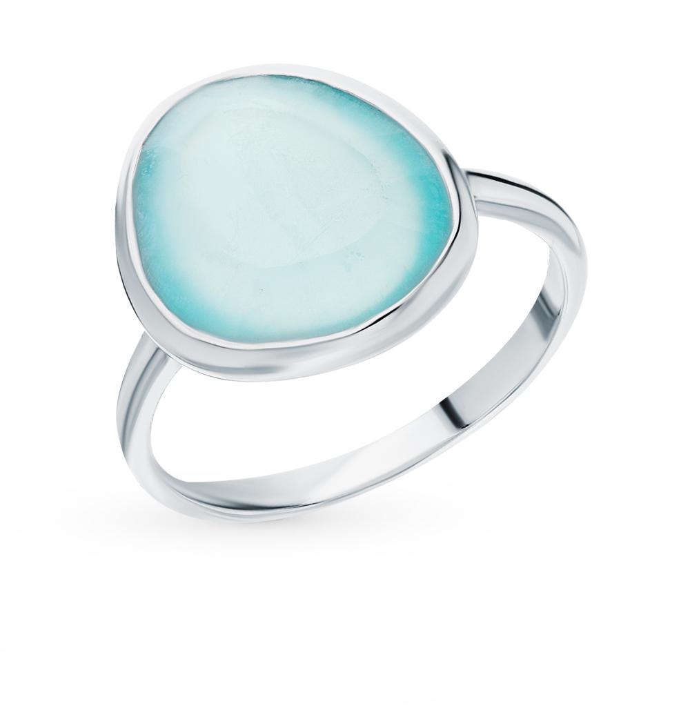 Серебряное кольцо с халцедонами в Екатеринбурге