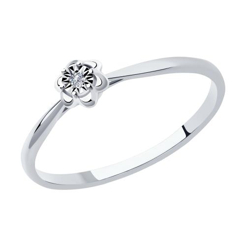 Фото «Золотое кольцо с бриллиантами SOKOLOV 1011966»