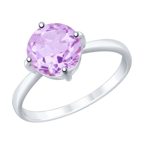 Фото «Серебряное кольцо с аметистом SOKOLOV 92011791»
