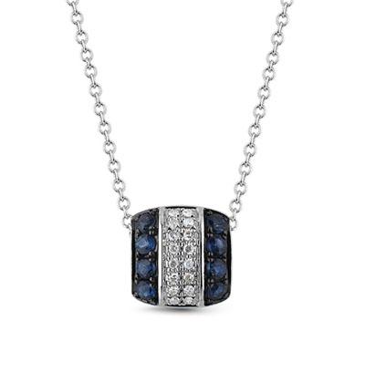 Фото «золотая подвеска с сапфирами и бриллиантами»