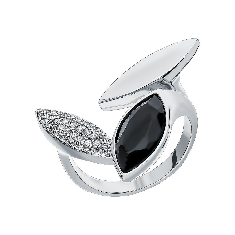 Фото «Серебряное кольцо с цирконием, ситаллами и кубическими циркониями»