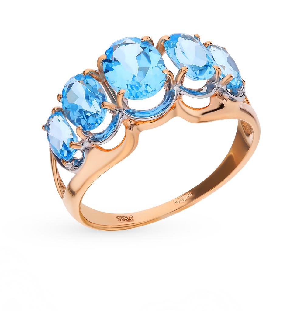 золотое кольцо с топазами SOKOLOV 714435*