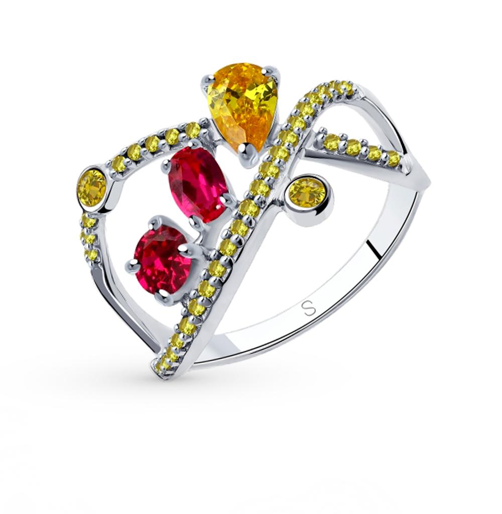 Фото «Серебряное кольцо с фианитами SOKOLOV 94013025»