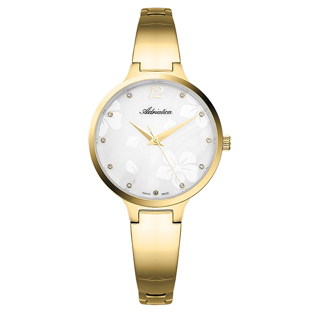 Женские часы A3710.1173Q на стальном браслете с PVD покрытием с минеральным стеклом