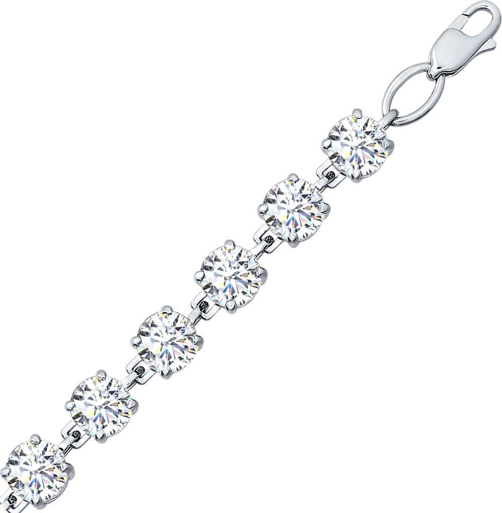 серебряный браслет с фианитами SOKOLOV 94050120