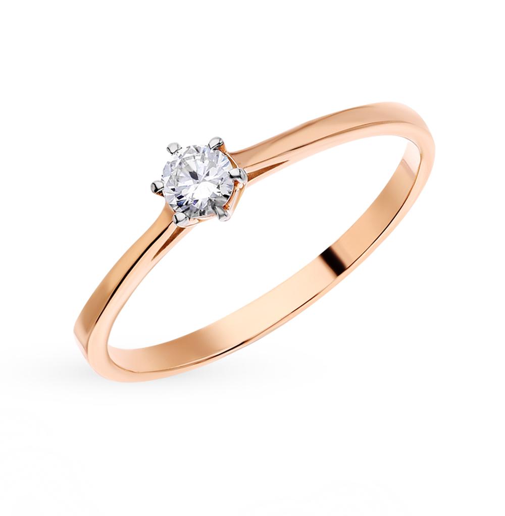 Золотое кольцо с фианитами в Екатеринбурге