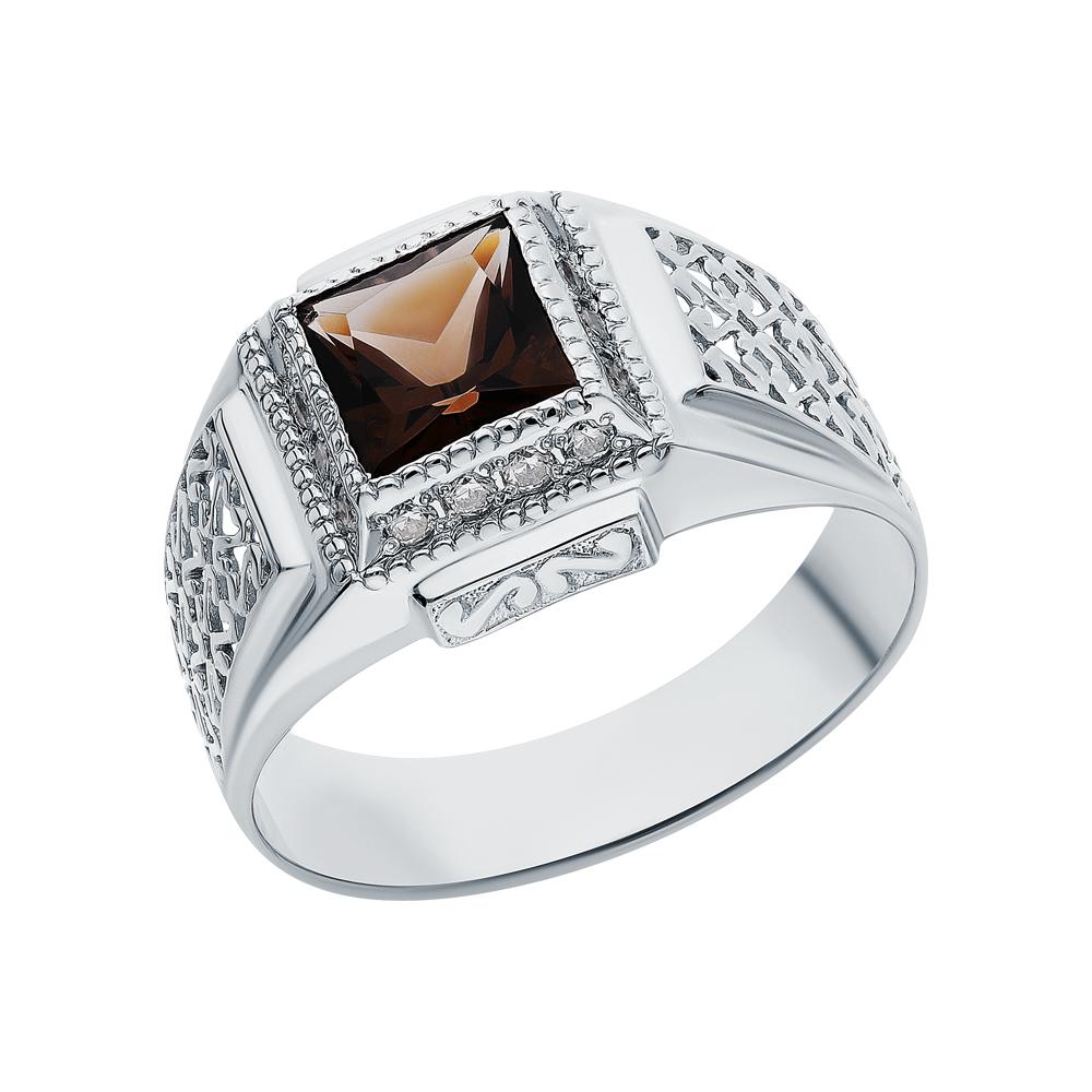 Фото «Серебряное кольцо с кварцами дымчатыми»