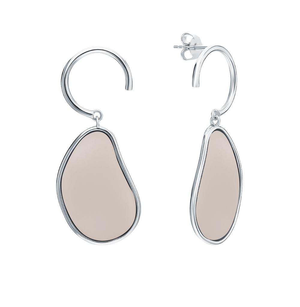 Серебряные серьги с эмалью в Екатеринбурге