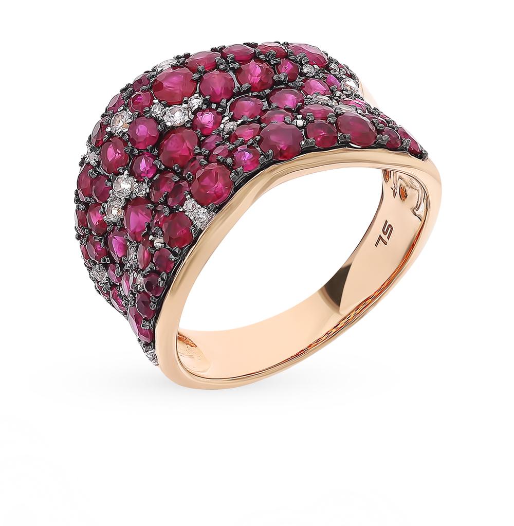 Фото «Золотое кольцо с рубинами, сапфирами и бриллиантами»