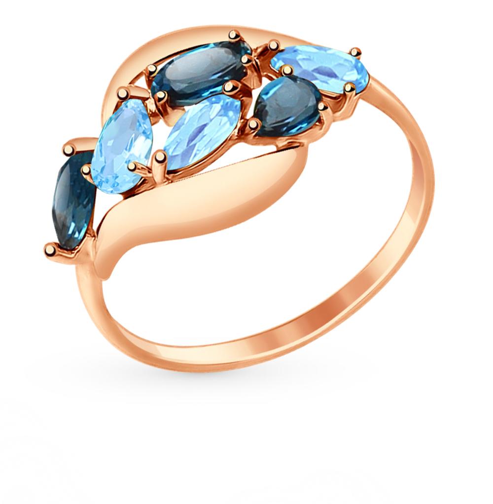 Фото «Золотое кольцо с топазами SOKOLOV 714691*»