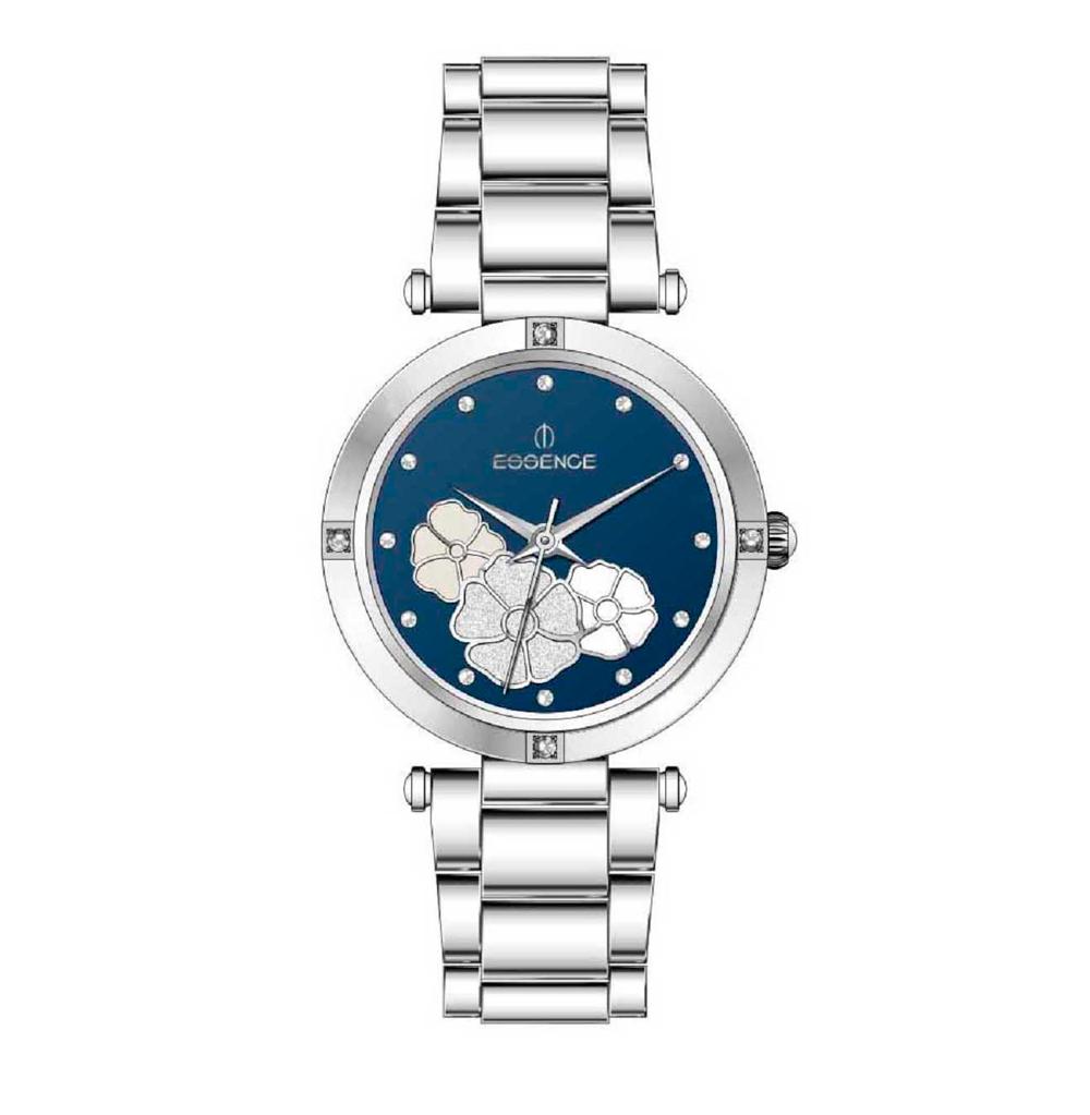 Фото «Женские  кварцевые часы ES6520FE.390 на стальном браслете с минеральным стеклом»