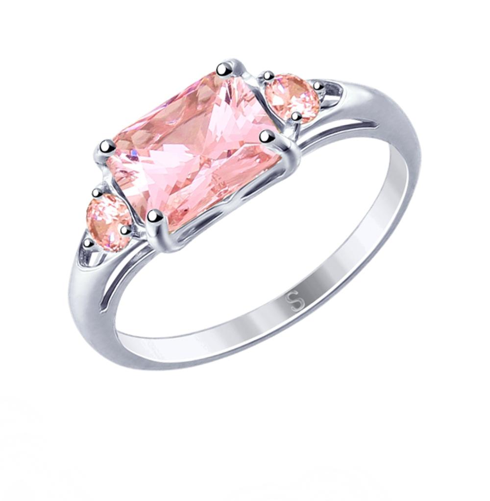 Фото «Серебряное кольцо с фианитами SOKOLOV 94012765»