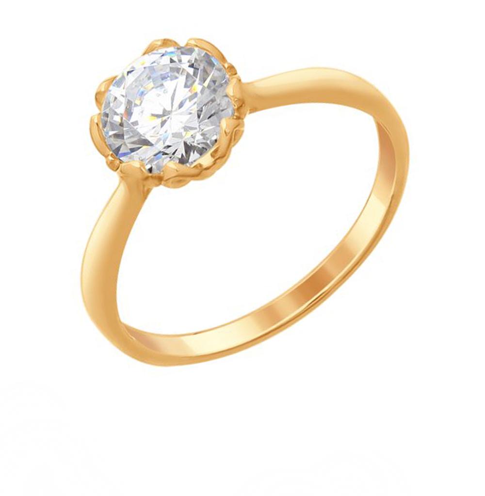 серебряное кольцо с фианитами SOKOLOV 89010102